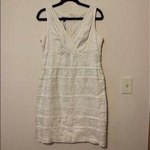 Talbots 100% linen V Neck  dress size 10 NWT